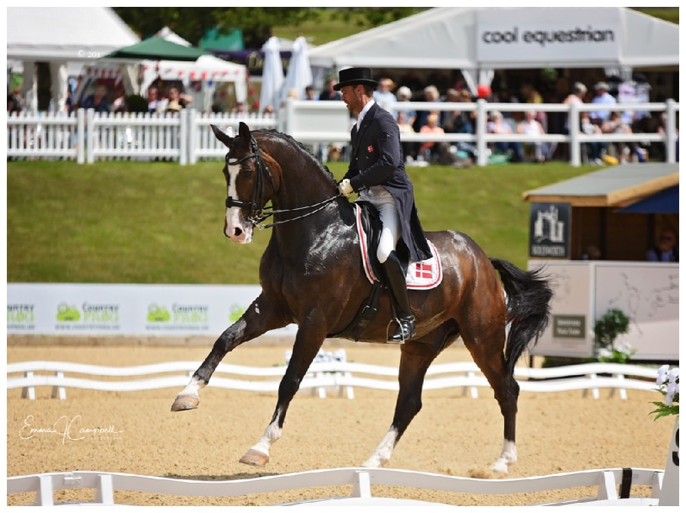 Riding dressage - competition Cheshire, UK