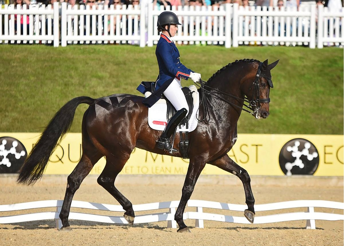 Charlotte Dujardin competing at Liverpool International Horse Show