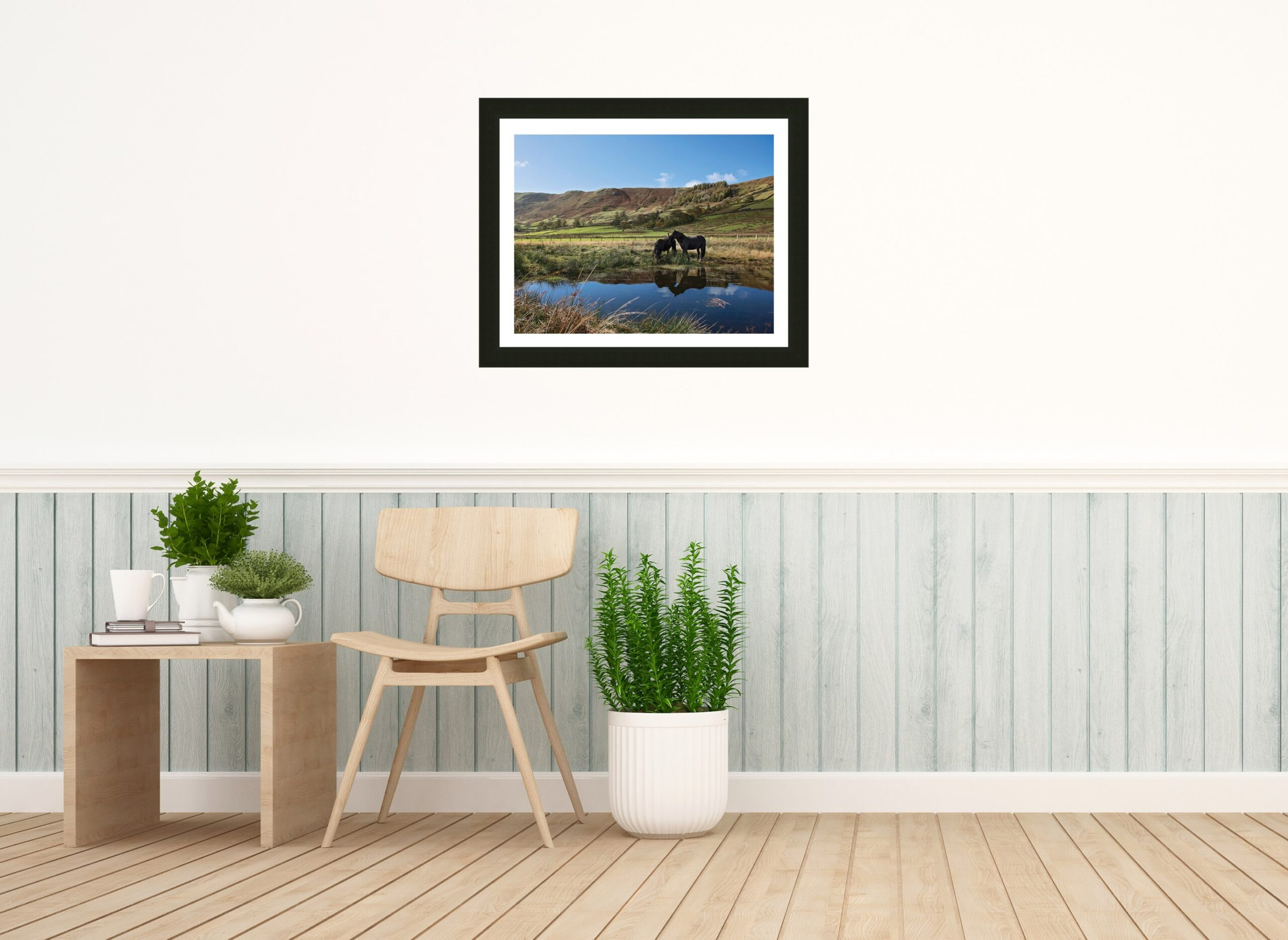 Swindale Valley Fell Ponies print and frame